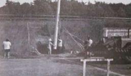 Errichtung der Flutlichtanlage